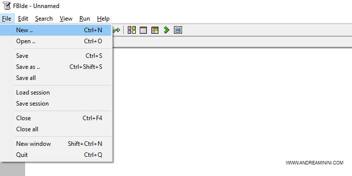 creo un nuovo programma con FreeBasic