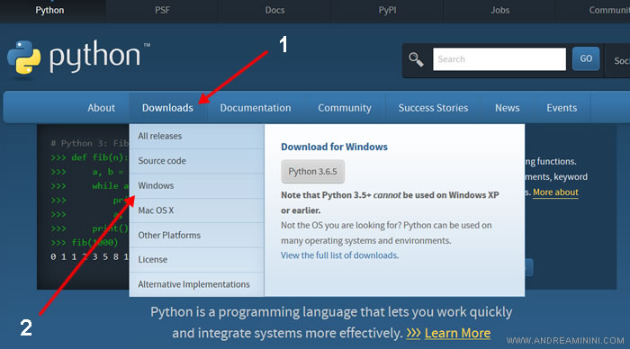 how to dowload and install Python language on a PC Windows