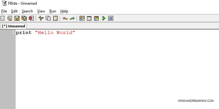 un esempio di semplice programma in basic