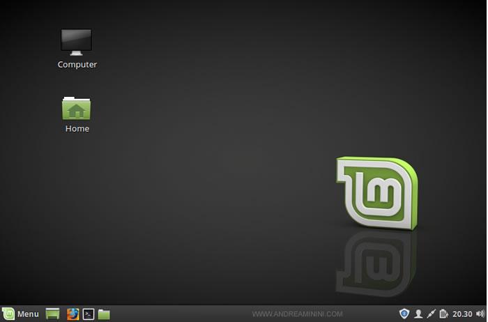 il desktop di Linux Mint