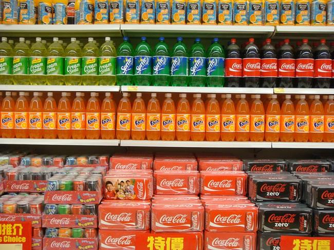lo scaffale di un supermercato