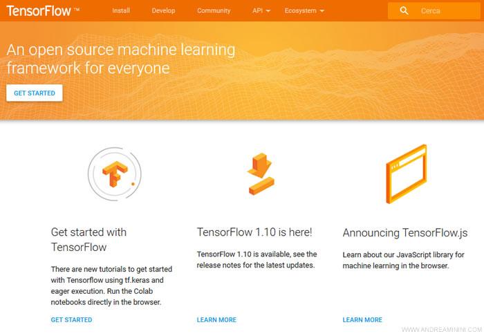 il sito Tensorflow.org